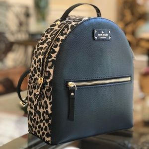 Authentic NWT Kate spade leopard Sammi backpack